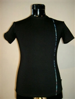 TEE WITH PAUA PANEL ON LEFT SIDE