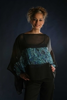 PAUA SCARF/WRAP/TOP - Green Paua Print - Small