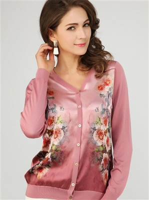 Silk Knit Cardy