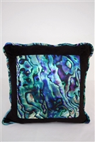Self Piped Paua Cushion